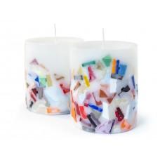 Candles mosaic handmade