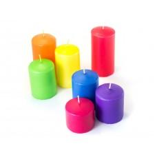 Бытовые парафиновые свечи №50/110 (цветные)